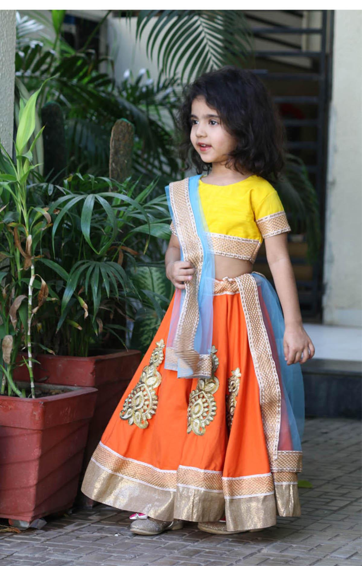 Lehanga Choli For Small Girls Group Dance Costumes I